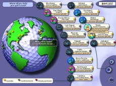 The course selection screen. It's colorful, but there's less information here than you'd think.
