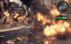 When you successfully blow up a posse of enemy racers, the last explosion plays out in slow-motion.