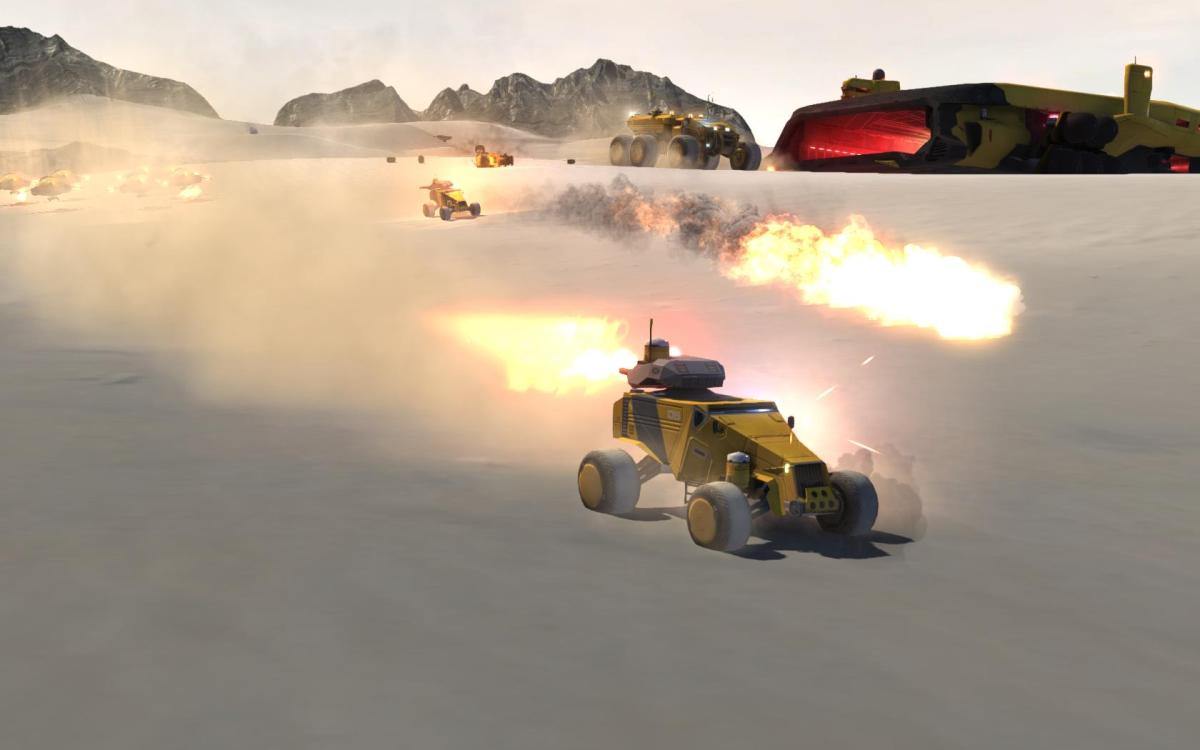 Exploding Gracefully in Multiplayer Homeworld: Deserts of Kharak