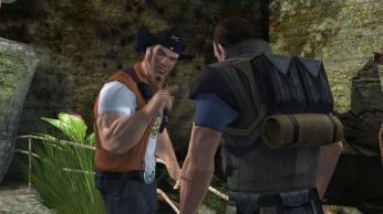Cowboy Hat Bad Guy gives orders to Dumb Jock Bad Guy #03