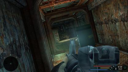 Indoor combat demands lots of peeking around corners.